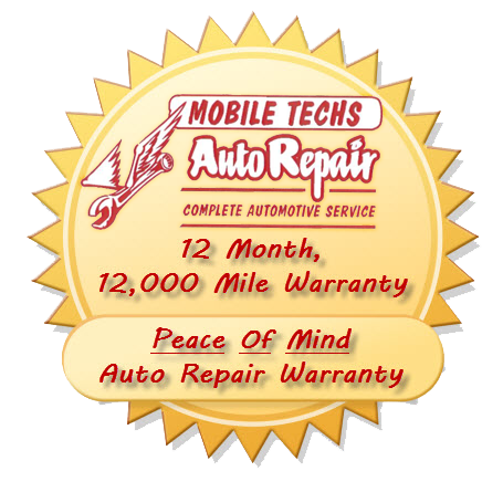 St Louis Mo Vehicle / Auto Repair Warranty | Mobile Techs Inc 12 Month, 12,000 Mile Auto Repair Warranty