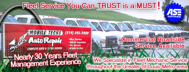 Commercial Fleet Truck Service in St Louis Mo | Mobile Techs Inc. 11043 Gravois Industrial Court Sunset Hills Mo 63128